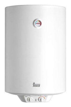 Teka - Termo Electrico Ewh80, 80L, Blanco, 450X796, Tanque Esmaltado, Resistencia Ceramica, Termostato Temperatura 30-75º, 1500W