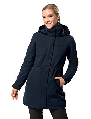 Jack Wolfskin Ottawa Coat Giacca 3in 1, Donna, Blu (Midnight Blue), M
