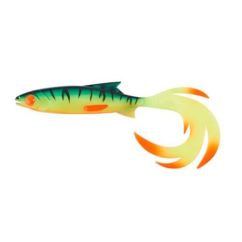 Balzer Shirasu Reptile Shad - Pesce in Gomma per Pesca a Spinning su luccio, luccioperca e persico, Esche in Gomma, Had, Fireshark, 15cm / 15g