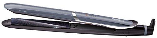 BaByliss IPro Slim ST387E - Plancha de pelo iónica, placas profesionales de cerámica para cabello húmedo y seco, calentamiento instantáneo, 6 temperaturas 140º - 235º