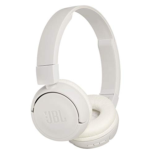 JBL T460BT Extra Bass Wireless On-Ear Headphones with Mic (White)