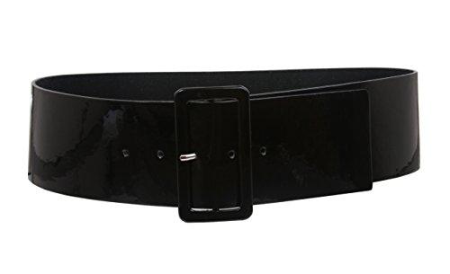 Cinturón Beltiscool, de alta cintura, para mujeres, de cuero Negro negro S/M-81.28 cm