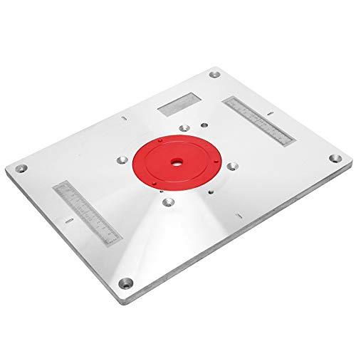 Piastra D'inserimento per Tavolo del Router in Alluminio, Bordo di Vibrazione della Macchina per...