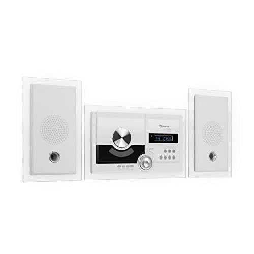 Auna Stereosonic • Impianto Stereo • Impianto Stereo Compatto • Montaggio a Parete • Lettore...