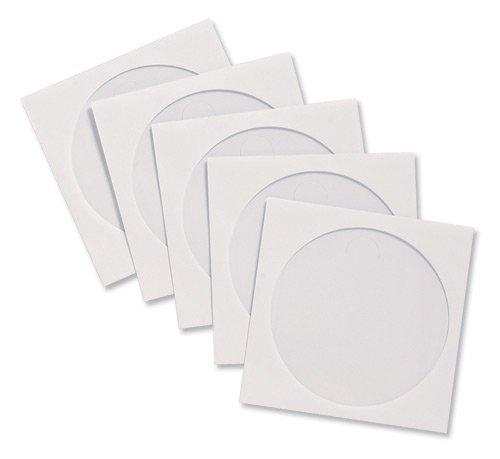 Compucessory CD-Hüllen aus Papier mit Sichtfenster B 126 x H 126 mm 100 Stück weiß