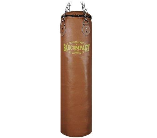 Profi Retro Leder Boxsack braun 100 x 35cm ungefüllt inkl. Heavy Duty Vierpunkt-Stahlkette