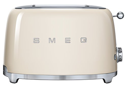 SMEG TSF01CREU Grille-pain, 950 W, 1.5 liters, Crème