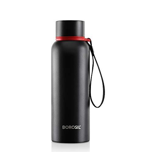 Borosil Stainless Steel Hydra Trek - Vacuum Insulated Flask Water Bottle, Green, 500ML