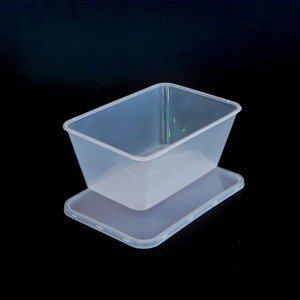 50x 1000ml Microondas recipientes de plástico para alimentos