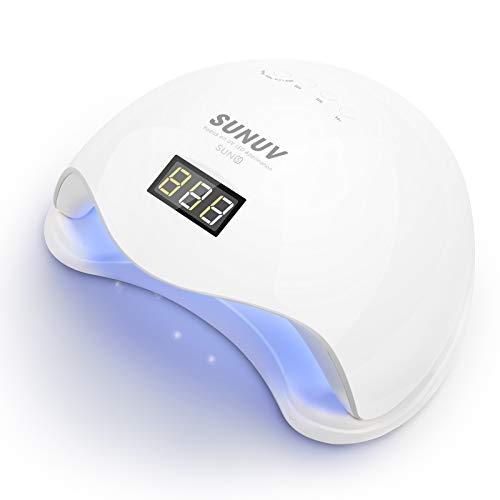 SUNUV Lampada UV LED Unghie Professionale 36W/48W Fornetto Unghie Gel Semipermanente, Sensore...