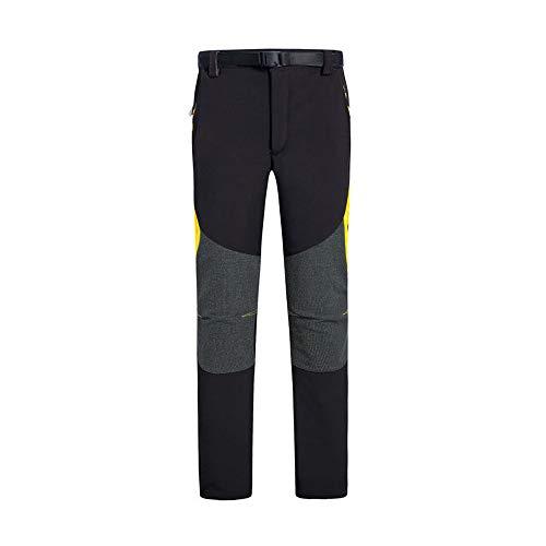 Ynport Crefreak Pantalones de escalada para hombre, secado rápido, transpirables, con cinturón, hombre, negro