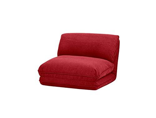 Amazon Basics - Poltrona letto, 78 x 82 x 58 cm, rosso