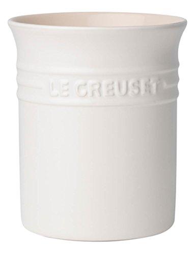 LE CREUSET 91000100431000 Porta Spatole in Gres, 1.1 L, Cotton, Ceramica, 5x5x11 cm