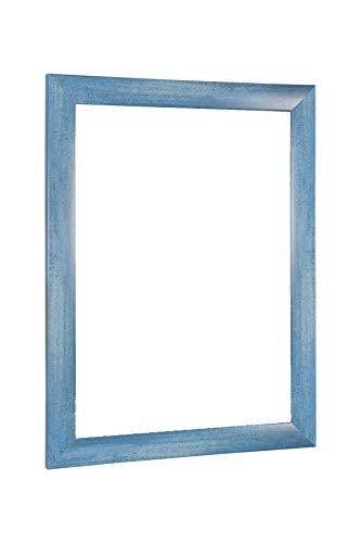 NiRa35-Top Cornice per Foto e Poster 37.5x98 cm in Colore Blu Chiaro Lavato con Vetro Acrilico...