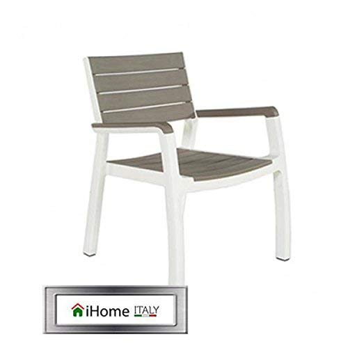 Keter Harmony White And Coffee Armchair