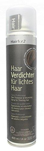 Hairfor2 Haarverdichtungsspray dunkelbraun, 1er Pack (1 x 400 g)