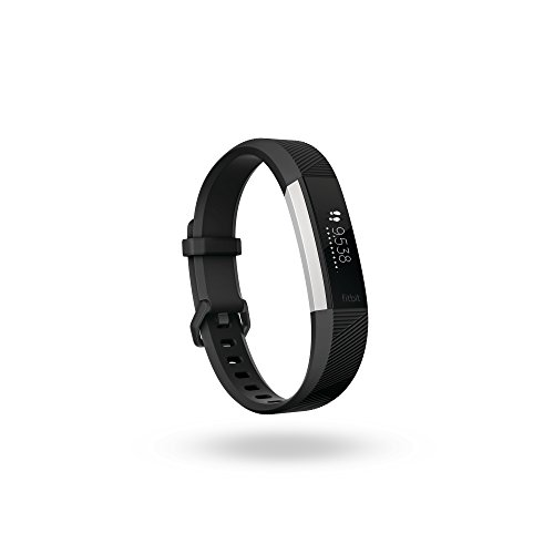 Fitbit Alta HR, Braccialetto per Il Fitness + Battito Cardiaco Unisex-Adulto, Nero, Large