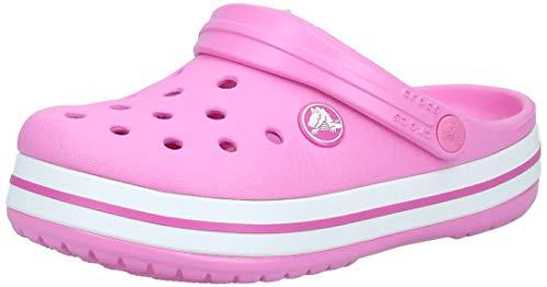 Crocs Crocband Clog K, Scarpe da Spiaggia e Piscina Unisex-Bambini, Rosa (Party Pink), 29/30 EU
