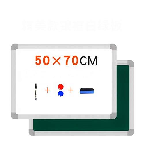 Front White, Reverse Green - Lavagna Magnetica Monofacciale - Tavolo Da Disegno Per Casa - 60x90cm...