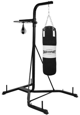 Pro Boxstand / Box-Station / freistehende Fitness-Station schwarz geeignet für Boxsäcke, Doppelendbälle und Speedballs BCA-43