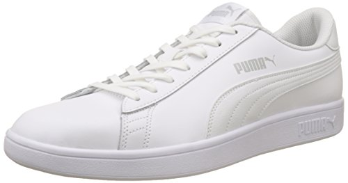 Puma Smash v2 L, Unisex-Erwachsene Sneakers, Weiß (Puma White-Puma White), 46 EU (11 UK)