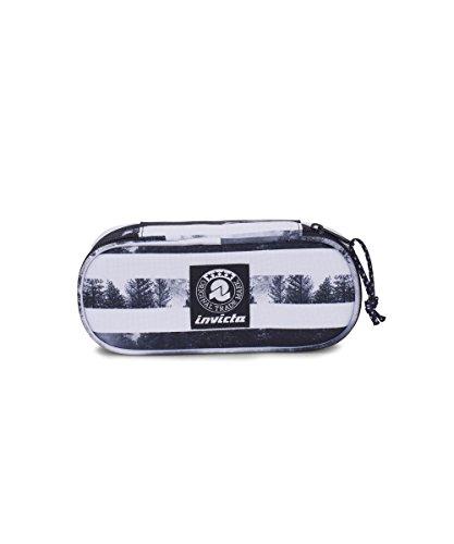 Portapenne INVICTA - LIP PENCIL BAG - Nero e Bianco - porta penne scomparto interno attrezzato