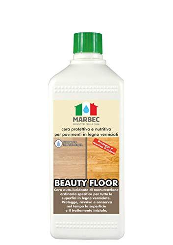 Marbec - Beauty Floor 1LT | Cera di Manutenzione e Protezione per Pavimenti in Legno verniciati