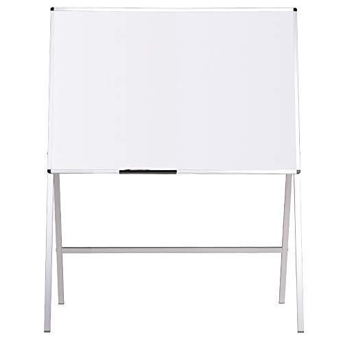 VIZ-PRO Lavagna Magnetica, Lavagna a fogli mobili, cornice in alluminio, 120 x 90 cm