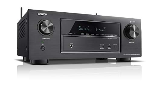 Denon AVR-X3400H 7.2-CH AV Surround Home Theatre Receiver with Bluetooth, Wi-Fi, Airplay, Dolby Atmos, DTS:X & HEOS