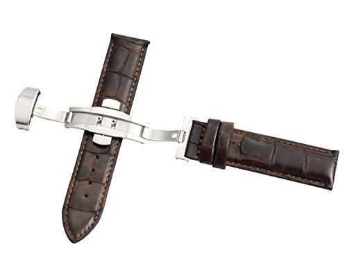 20mm marrone coccodrillo cinturini in pelle fiore cinghia rapida della cinghia della vigilanza di sblocco con fibbia di distribuzione