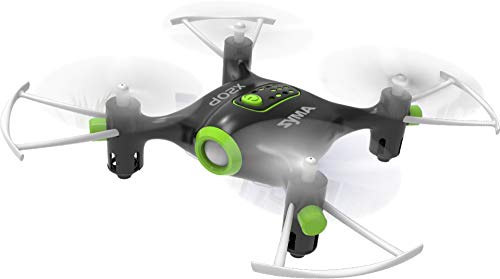 Toy House Syma Mini Pocket Drone Headless Mode 2.4GHz Nano LED RC Quadcopter Altitude Hold, Black