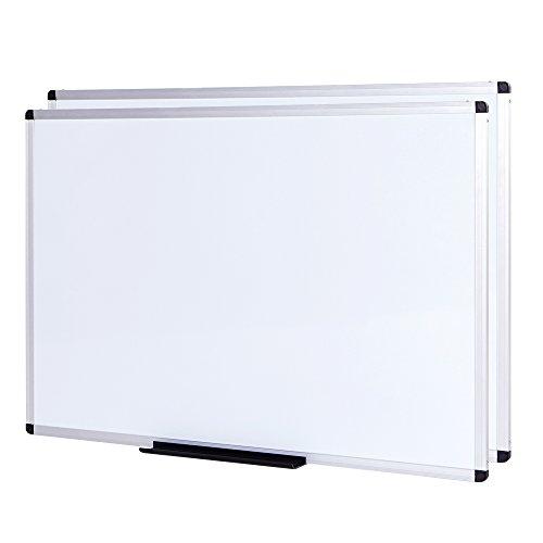 VIZ-PRO Set di 2 Lavagna Magnetica, cornice in alluminio, 120 x 90 cm