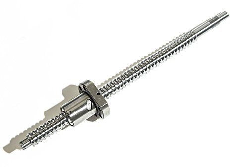 TEN-HIGH® Ballscrew CNC parts SFU2005 RM2005 20mm 350mm with Metal Deflector Ballscrew nut with BK/BF15 Standard End Machining