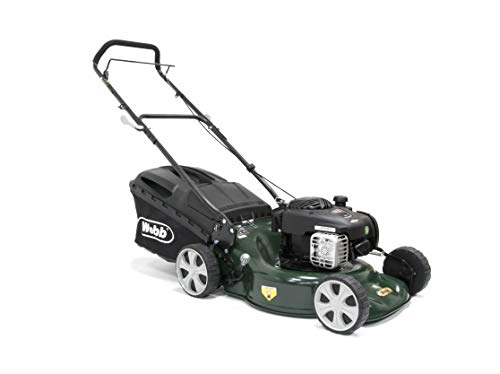 The Webb 18in/46cm Push Petrol Four Wheeled Steel Deck Lawnmower is another model you can get at a decent price.