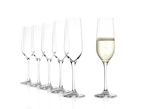 Bicchieri da spumante Stölzle Lausitz Classic da 190ml, set da 6, resistenti in lavastoviglie, design elegante, di elevata qualità