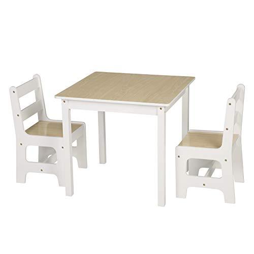 WOLTU 3tlg. Kindersitzgruppe Kindertisch mit 2 Stühle Sitzgruppe für Kinder Vorschüler Kindermöbel, SG005