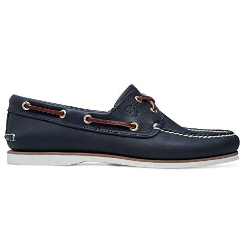 Timberland Herren 2-Eye Boat Shoe (wide fit) Bootsschuhe, Blau (Nautical Blue Wilderness), 44 EU