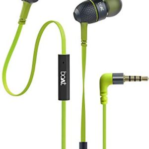 326e560aab8 boAt Bass Heads 225 in-Ear Headphones with Mic (Neon Lime) ...