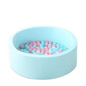 Lineary Juguete Interesante para niños Soft Baby Kids Toddler Play Round Ball Pool para niños Pit Pit Sponge Foma Playpen con Cremallera para Interiores y Exteriores, sin Bolas cumpleaños /