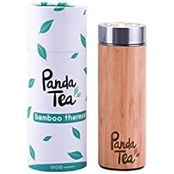 Panda Tea - Thermos / Infuseur Bamboo - 360 ml