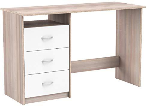 """Schreibtisch Computertisch Arbeitstisch Bürotisch Laptoptisch Büromöbel \""""Mack I\"""" Sonoma-Eiche/Weiß"""