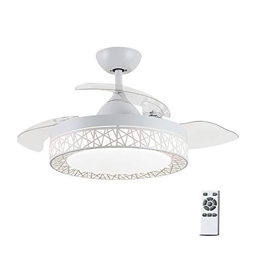 42'' Luce per ventilatore da soffitto,Ventilatore da soffitto Silenzioso con Ventilatore a 4 Pale...
