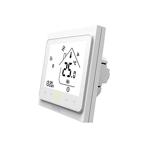 Contrôleur de température MOES Smart Thermostat WiFi Smart Life APP Télécommande pour le chauffage électrique Fonctionne avec Alexa 16A