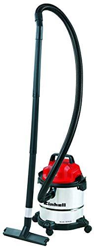 Einhell Nass-Trockensauger TC-VC 1812 S (1.250 W Leistung, 36mm Schlauchsystem, 12 l Edelstahlbehälter, Schaumstofffilter, umfangreiches Düsenzubehör)
