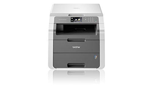 Brother DCP-9015CDW - Impresora multifunción láser color (LED, WiFi, impresión automática a doble cara), color blanco y gris