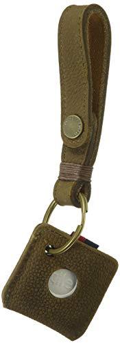 Herschel Keychain + Tile Brown Pebbled Nubuck