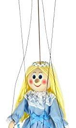 ABA 20 cm, Serie Marionette-Letterina delle Fate, in Legno, Multicolore