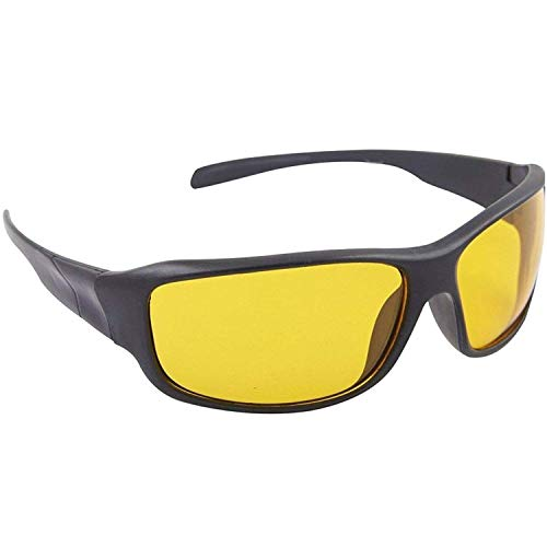 Synbus Unisex Day and Night HD Vision Anti-Glare UV Protected Sunglass for Driving (Yellow)