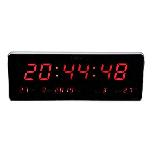 AUNMAS Orologio da Parete Digitale Orologio da Tavolo a LED a Tempo preciso Orologio da Tavolo per Soggiorno(Kalendertemperaturwoche)