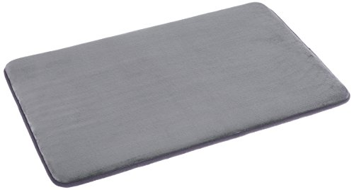 AmazonBasics - Scendibagno in memory foam, 46 x 71 cm, grigio